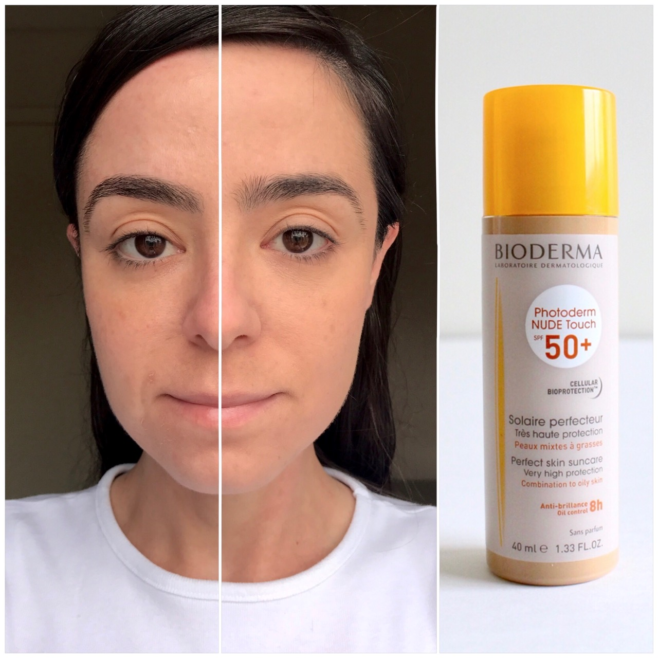 Protetor Solar Bioderma Photoderm Nude Touch FPS50 Claro